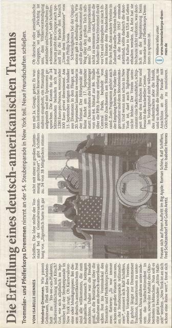 Heinsberg Volkszeitung 08.09.2011