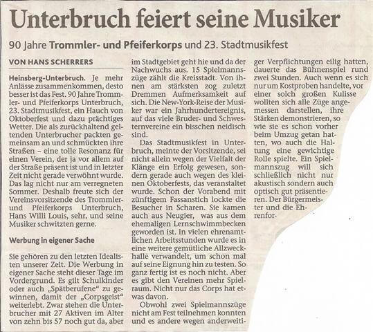Heinsberger Volkszeitung 06.10.2011