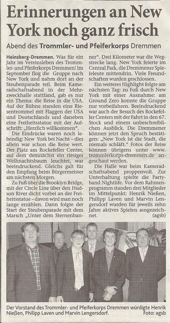 Heinsberger Volkszeitung 26.10.2011
