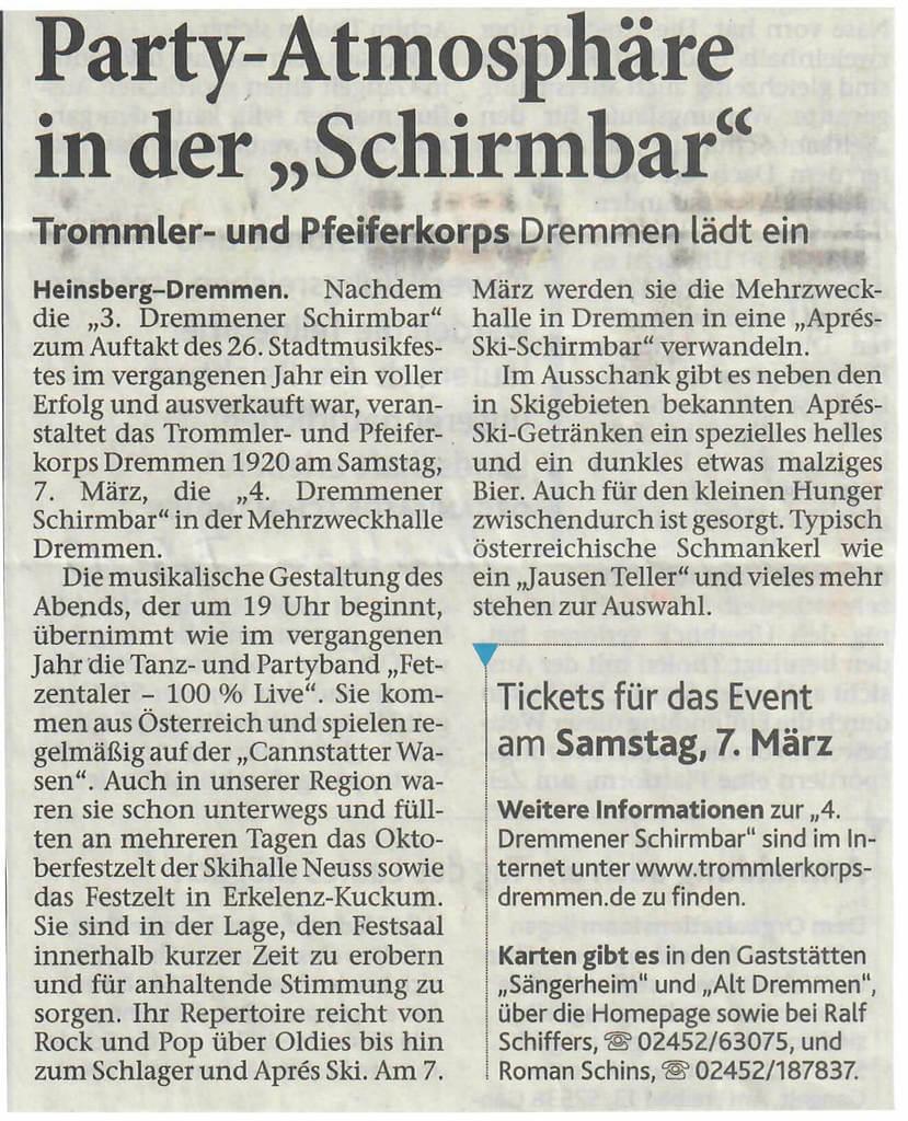 Heinsberger Volkszeitung 02.2015