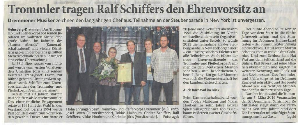 Heinsberger Volkszeitung 06.11.2015